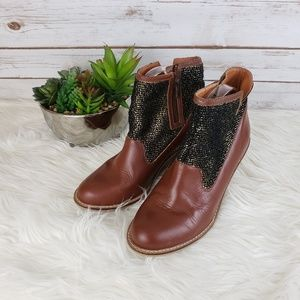 Anthro Schuler & Sons Wedged Booties 9.5